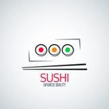 Sushi roll plate menu background Stock Photo
