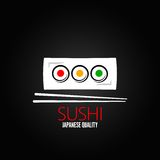 Sushi Roll Plate Menu Design Background Royalty Free Stock Photography