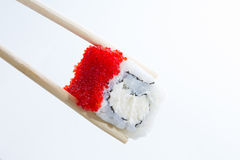 Sushi roll with red caviar Royalty Free Stock Image