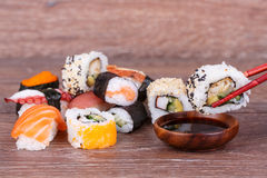 Sushi and Roll Royalty Free Stock Photography