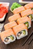 Sushi roll with salmon and eel Royalty Free Stock Photo