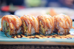 Sushi roll with salmon Royalty Free Stock Photography
