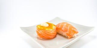 Sushi roll and salmon nigiri sushi Royalty Free Stock Image