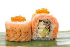 Sushi roll with salmon Royalty Free Stock Photo