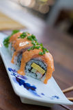 Sushi roll with salmon Stock Image