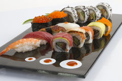 Sushi roll and sauce Royalty Free Stock Photos