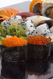 Sushi roll and sauce Royalty Free Stock Images