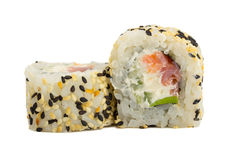 Sushi roll with sesame isolated on white background Stock Images