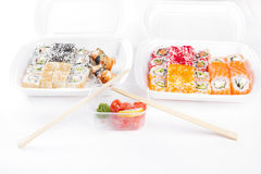 Sushi and roll set Royalty Free Stock Photography