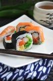 Sushi roll set Stock Image