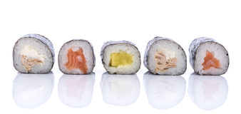 Sushi roll set Royalty Free Stock Image