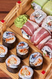 Sushi roll set Stock Image