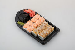 Sushi Roll set, Japanese cuisine Royalty Free Stock Photography