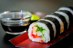 Sushi Roll Set Stock Images