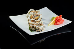 Sushi roll with spice eel fish Stock Image