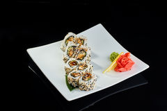 Sushi roll with spicy eel fish Stock Image
