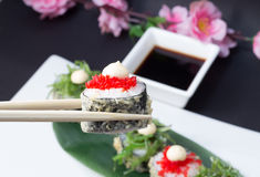 Sushi roll in tempura Stock Images