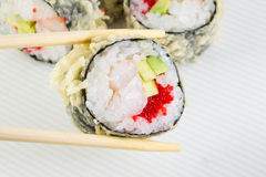Sushi roll in tempura Stock Photography