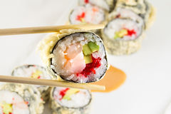 Sushi roll in tempura Stock Photos