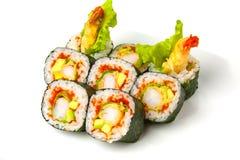 Sushi roll with tiger shrimp tempura Stock Photography