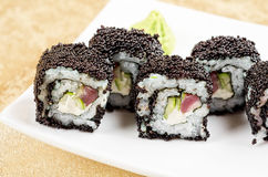 Tuna sushi roll Royalty Free Stock Image