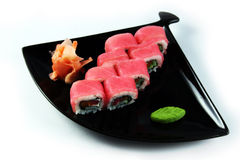 Sushi roll with tuna Stock Photography