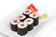 Sushi roll with tuna. Royalty Free Stock Photography