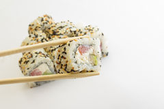Sushi roll with tuna and sesame Royalty Free Stock Photography