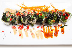 Sushi Roll Vegetarian Royalty Free Stock Photo