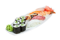 Sushi Roll on a white background Royalty Free Stock Photos