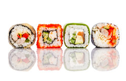 Sushi Roll on a white background Royalty Free Stock Images