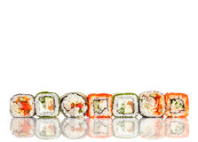 Sushi Roll on a white background Stock Images