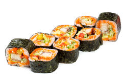 Sushi Roll on a white background Royalty Free Stock Image