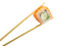 Sushi roll. On white background stock images