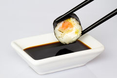 Sushi (Roll) on a white background Stock Image