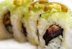 Sushi-Rolle Stockfoto