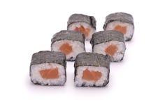 Sushi-Rolle mit Lachsen Lizenzfreies Stockbild