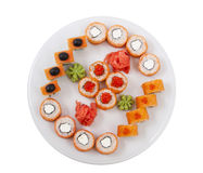 Sushi and rolled Royalty Free Stock Image