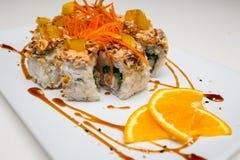 Sushi-Rollenvegetarier Stockfoto