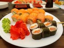 Sushi Rolls Foto de archivo