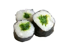 Sushi rolls. Isolated on the white background Stock Photo