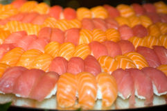 Sushi rolls. On a platter stock images