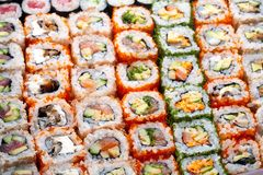 Sushi and rolls Royalty Free Stock Photo