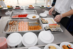 Sushi rolls. An assortment of japanese sushi Stock Photo