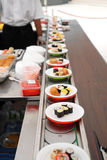 Sushi rolls. An assortment of japanese sushi Stock Photos