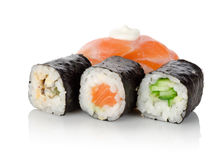 Sushi and rolls Stock Photo