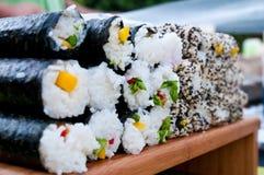 Sushi Rolls Royaltyfri Bild