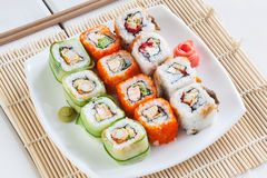 Free Sushi Rolls Royalty Free Stock Photography - 53496617