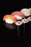Sushi Rolls And Sashimi Royalty Free Stock Image