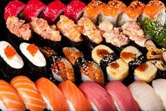 Sushi Rolls And Sashimi Royalty Free Stock Photography